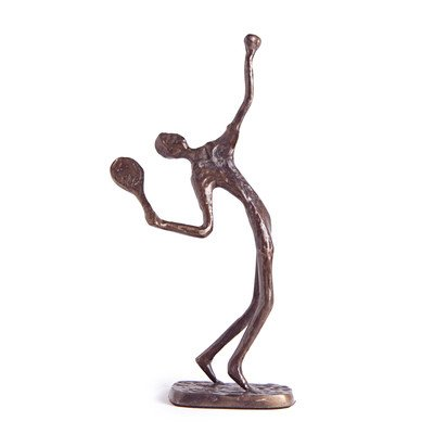 Danya B Male Tennis Player Bronze Sculpture