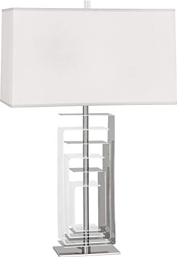 - Robert Abbey Braxton Polished Nickel and Acrylic Table Lamp