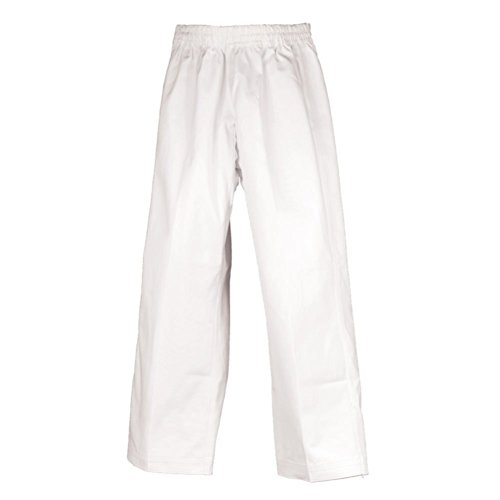 (Tiger Claw Martial Arts Pants Poly/Cotton (White, 0))