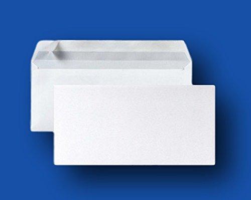 Lotto di 50piccola busta posta DL- carta velina Bianco 90g Formato 110x 220mm una busta bianca con chiusura banda adesiva autocollante siliconnée UNIVERS GRAPHIQUE ugenvdl