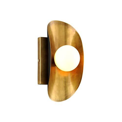 - Corbett 271-11 Hopper Wall Sconce, 1-Light 20 Watts, Vintage Brass Bronze Accents