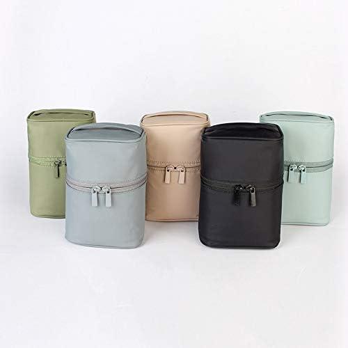 YouNITE 新ジッパーマンの女性のメイクアップバッグナイロン化粧品袋美容ケースメイクアップオーガナイザートイレタリーバッグキットストレージトラベルウォッシュ (Color : Pink)