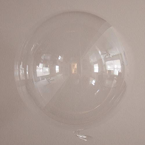 36 Inch Clear Round Balloons (2 balloons included) | Reusable