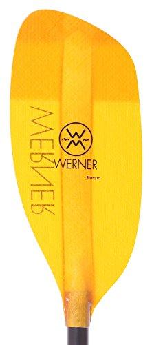 Best White Water Kayak Paddles - Werner Sherpa Fiberglass Straight Shaft Whitewater