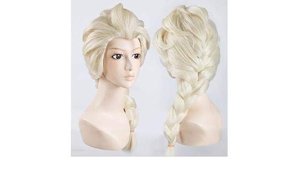 Peluca de pelo liwei258 con diseño de anime ondulado y rizado de Frozen Ice Romance Aisha Princess para niños y adultos: Amazon.es: Belleza