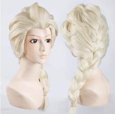Peluca de pelo liwei258 con diseño de anime ondulado y rizado de Frozen Ice Romance Aisha