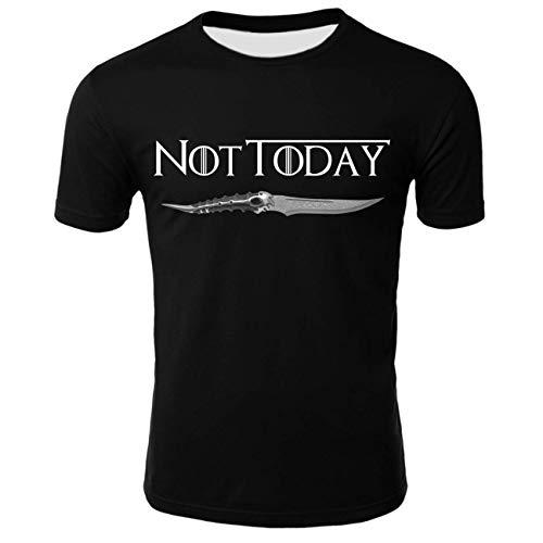 - GOT Men T-Shirt Commemorate Season 8 Mother of Dragons Not Today Sword T03483-XL