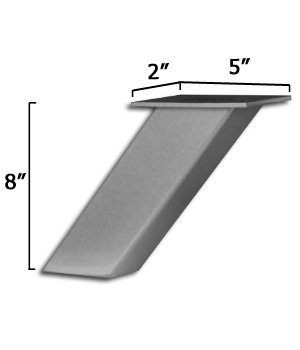 Elevated Countertop Support in Stainless Steel - Dimensions: 5 x 2 x 8 inches by Osborne Wood Products (Image #2)