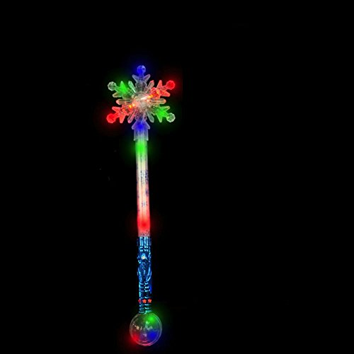 Flashing Light Up Christmas Snow Flake Wand - 3 Pack - Tons of fun for that next big party!