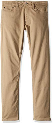 Calvin Klein Jeans Men's 5 Pocket Stretch Cotton Twill Pants, Cantucci, 33x32 (Five Klein Jeans Calvin Pocket)