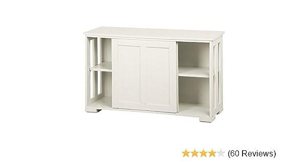 Amazon Com Yaheetech Antique White Sliding Door Buffet Sideboard