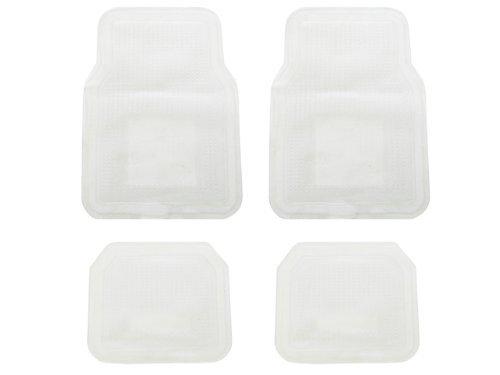 Medium Duty Floor (A Set of 4 Medium-Light Duty Transparent Vinyl Floor Mats - Clear)