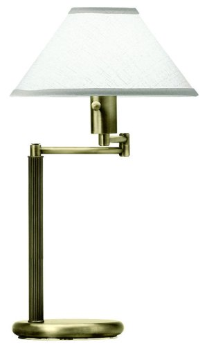 Brass Swing Halogen Antique Arm (House of Troy D436-71 Home/Office Collection 23-1/2-Inch Swing Arm Desk Lamp, Antique Brass)
