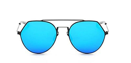 Style Cercle et Bleu Métallique de Steampunk Hommes Femmes en Lunettes Mercure Rond Polarisées Soleil du Pour Retro Inspirées xUSzXTq