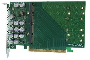 Aplicata Quad M.2 NVMe SSD PCIe x16 Adapter from Aplicata Technologies Inc.