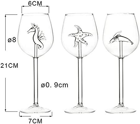 Decoración De Copas De Vino Tinto, Copa De Vino Creativa De 300 Ml, Copas De Vino Para Cumpleaños, Aniversario, Citas Diarias-Seestern
