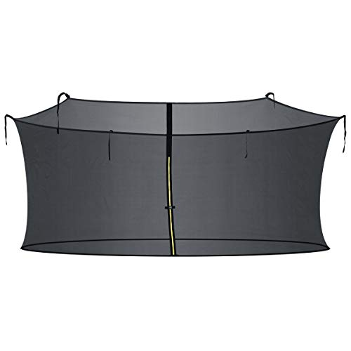 Zupapa 15FT 14FT 12FT 10FT Trampoline Inside-Enclosure net Replacement Black Mesh (12FT) by Zupapa (Image #4)