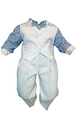 578dc983d Traje de bautizo jóvenes de bebé Infantil Traje De Boda De Fiesta, 4 ...