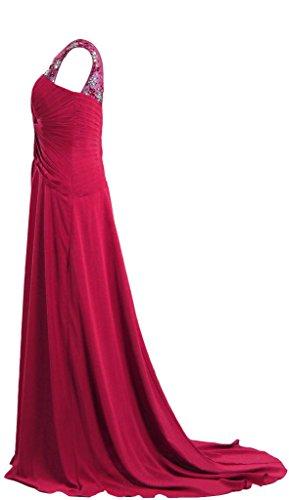 Sleeveless Crystal Evening Neck Sheer Women's Red ANTS Prom Dresses ZqxOIBWEwE