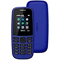 Nokia 105 (2019) Feature Phone, Dual SIM, 4MB RAM - Blue
