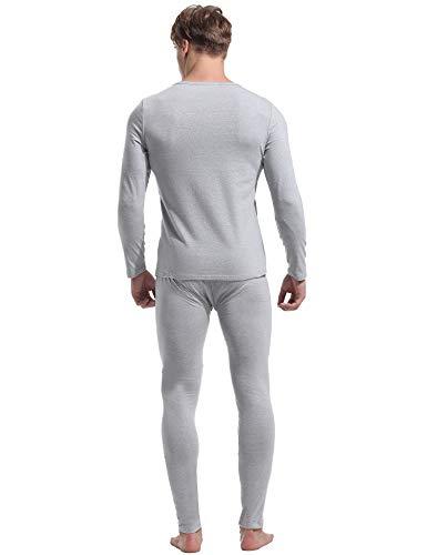 Ensemble A Pyjamas Longue Aibrou Coton Manche De Gris Pyjama Homme Literie Deux Chauds tpqRpP