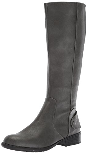 LifeStride Women's Xandy Equestrian Boot, Dark Grey, 7 M US