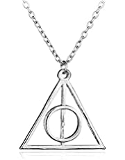 قلادة قلادة نسائية من Luna's Faly hallows Harry Potter Plated Deathly Hollows رمز