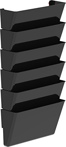 Storex Unbreakable Wall File, Legal Size, 4.5 x 16.25 x 4.5 Inches, Black, Case of 6 (70361U06C)
