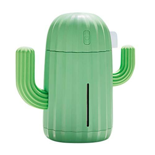 Junshion 340ML Mini Creative Cactus Difusor de Aire Oficina en casa Coche Humidificador de Aire portátil Nuevo para el...