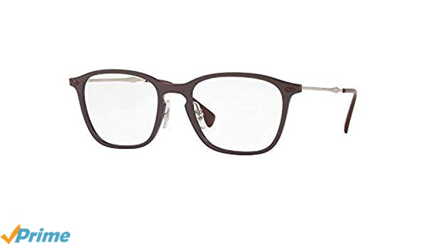 85bc08d459 Amazon.com  Ray-Ban Unisex RX8955 Eyeglasses Violet Graphene 51mm  Clothing