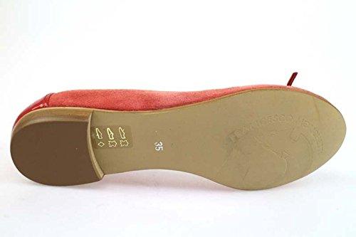 Francesco Morichetti Chaussures Femme 35 Ballerines Rosso Vernice Camoscio Ap394
