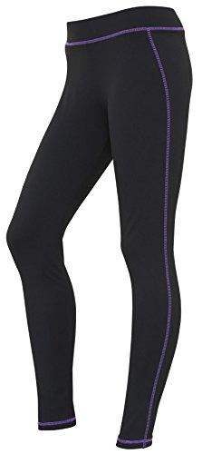 AWDis Cool, diseño de mujer Athletic–Pantalones para hombre Jet Black / Purple