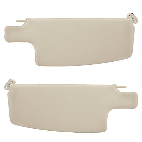 EMPI 4423 Sun Visors, 65-77 VW Bug Sedan, 73-79 Convertible, Ivory, Pair
