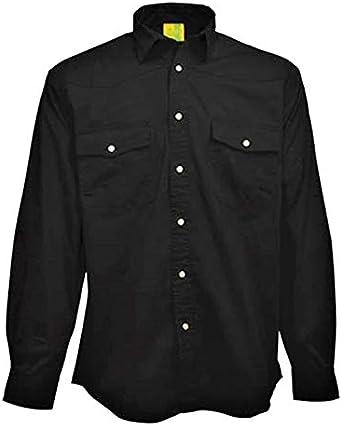 Scotch et Soda Coton Homme Noir//Blanc Chemise à manches longues L