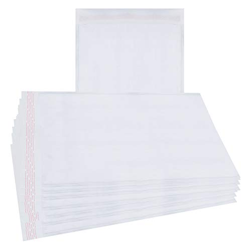 (25 Pack White Kraft Padded envelopes 10.5 x 15 Bubble Mailers 10.5x15 Peal and Seal. Cushion envelopes. Shipping, mailing, Packaging. Laminated Kraft Paper in Bulk. Wholesale Price, Bulk Pieces.)