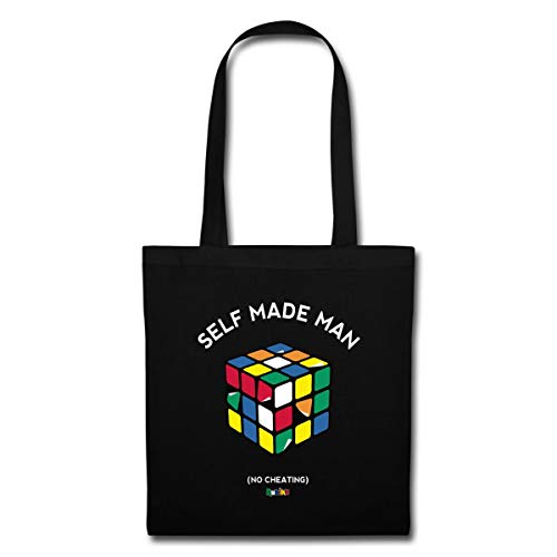Cube Man Rubik's Made Tote No Self Black Bag Spreadshirt Cheating 1SwUq