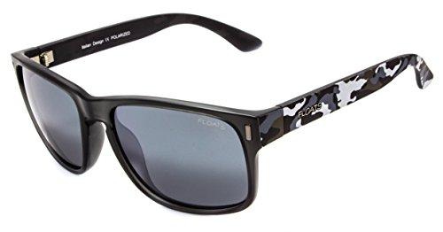 Floats Polarized F-4222 Sunglasses Polarized Plastic square camo sport frame 3-Barrel hinges Size 57 18 - Sunglasses Floats