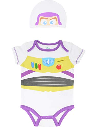 Buzz Lightyear Costume Toy Story - Disney Pixar Toy Story Baby Boys Buzz Lightyear Costume Bodysuit & Hat 24 Months