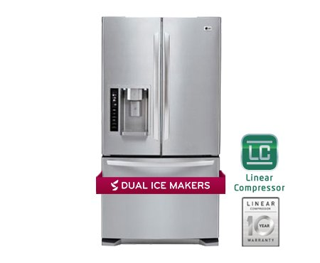 LG LFX25973ST 24.7 Cu. Ft. Stainless Steel French Door Refrigerator - Energy Star by LG