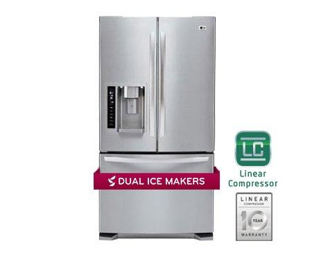 LG LFX25973ST 24.7 Cu. Ft. Stainless Steel French Door Refrigerator - Energy -