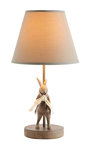 Rabbit Chandelier (Creative Co-Op DA6759 Cottage Brown Metal & Resin Rabbit Shaped Table lamp with Cotton Shade)