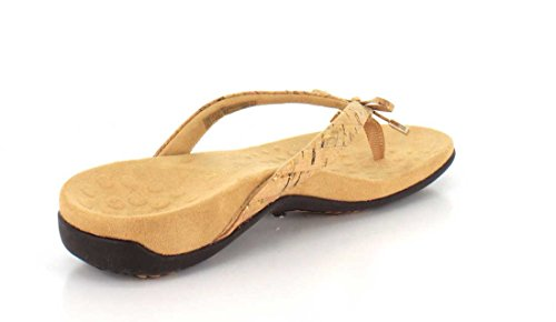 VIONIC Womens Bella Gold Cork Thong Sandal - 9 M
