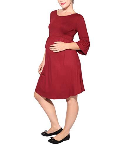 Vestido 2768 Premamá Rojo Casual Krisp Versátil FgxZdwZq