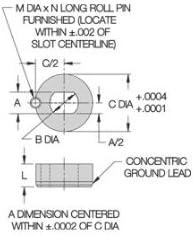 Pin Diameter 1//4 CL-4-SLLB Carr Lane Manufacturing Slotted Locator Bushing