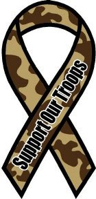 Camouflage Support Our Troops Ribbon Magnet