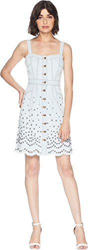 Juicy Couture Women's Denim Grommet Embellished Dress Pacific Wash 0
