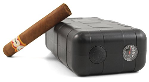 Perfecto XLT 8 CT Crushproof Humidifying Travel Cigar Humidor Case