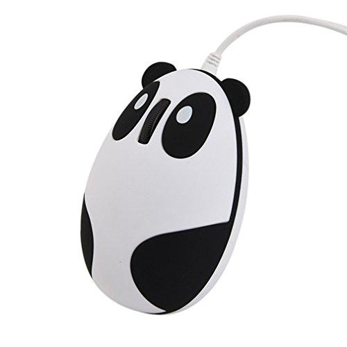 Novelty Cute Animal Panda Shape USB Wired Mouse 3D Optical Mice Mini Small Mouse Desktop PC Laptop Computer Women Kids Girls,1200DPI 3 Buttons 4.6 Feet Cord