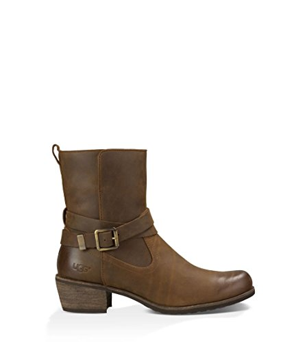 UGG Women's Lorraine Chocolate/Water Resistant Leather Boot (Go Go Boots Australia)