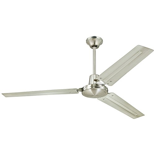 Westinghouse 7861400 Industrial 56 Inch Three Blade Indoor Ceiling Fan   Brushed Nickel with Brushed Nickel Steel Blades. Ceiling Fan Installation  Amazon com